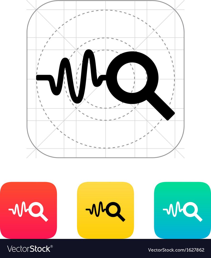 Cardiogram monitoring icon vector | Price: 1 Credit (USD $1)