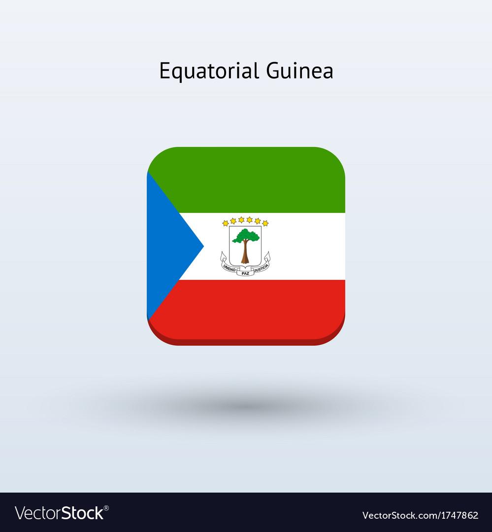 Equatorial guinea flag icon vector | Price: 1 Credit (USD $1)