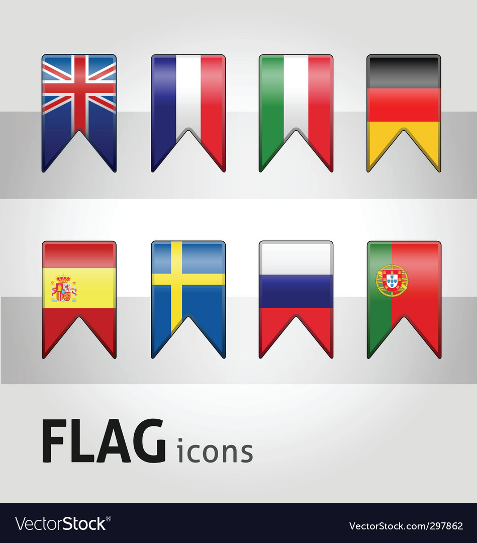 Flag icons vector | Price: 1 Credit (USD $1)