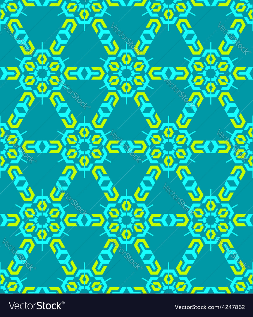 Geometric abstract colorful mosaic green blue vector | Price: 1 Credit (USD $1)