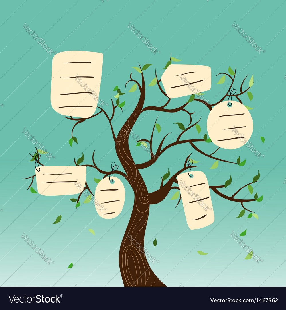 Hang tag family tree vector | Price: 1 Credit (USD $1)