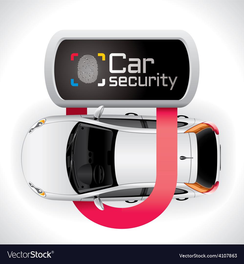 Car lock security vector | Price: 1 Credit (USD $1)