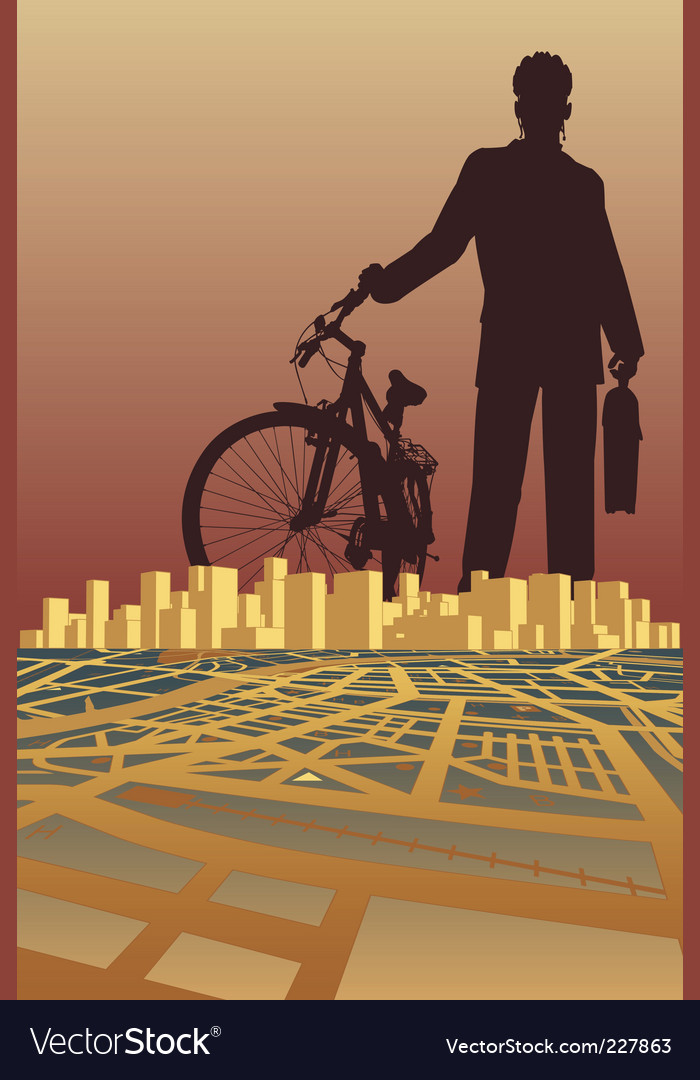 City biker vector | Price: 1 Credit (USD $1)