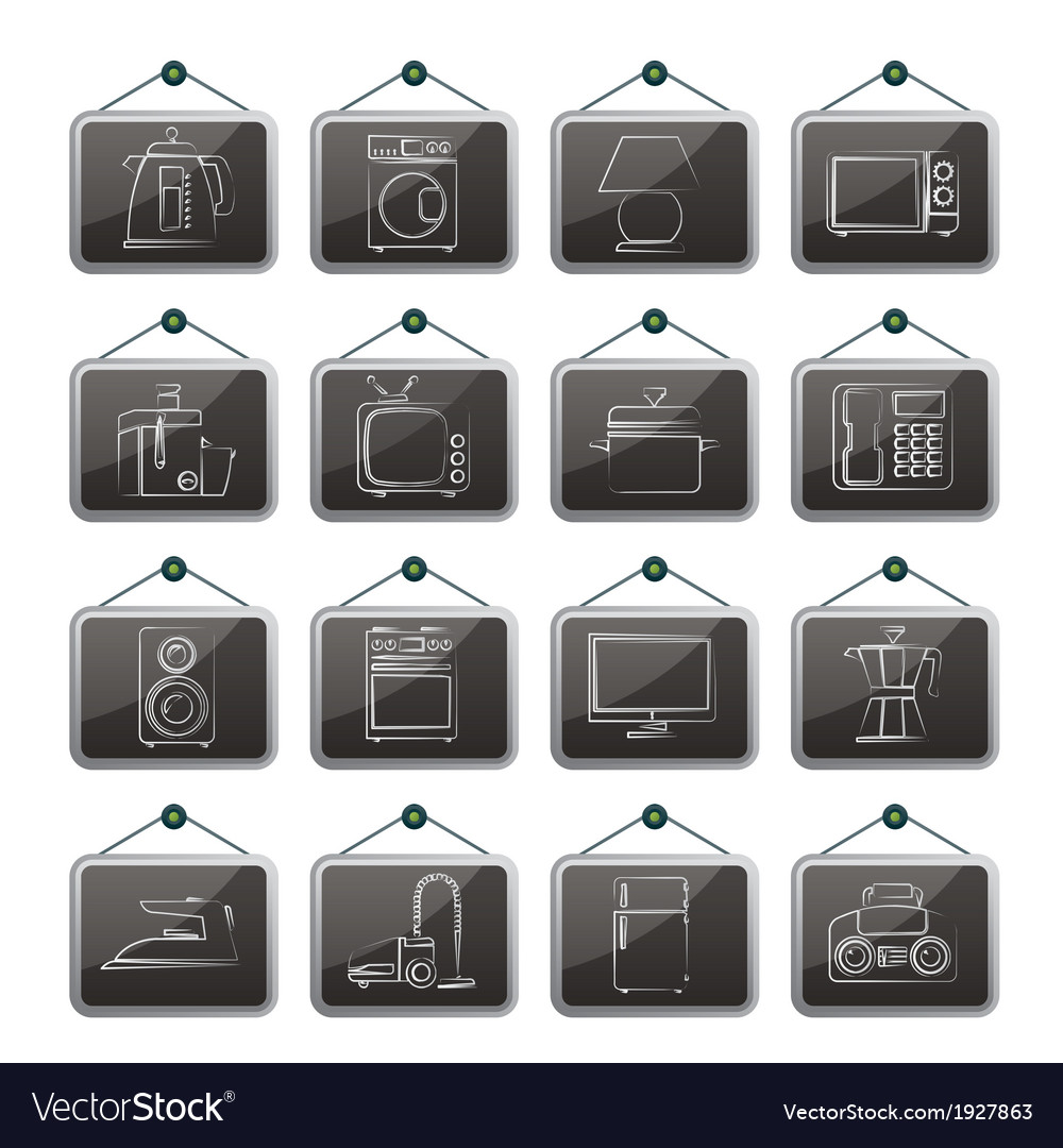 Home equipment icons vector | Price: 1 Credit (USD $1)