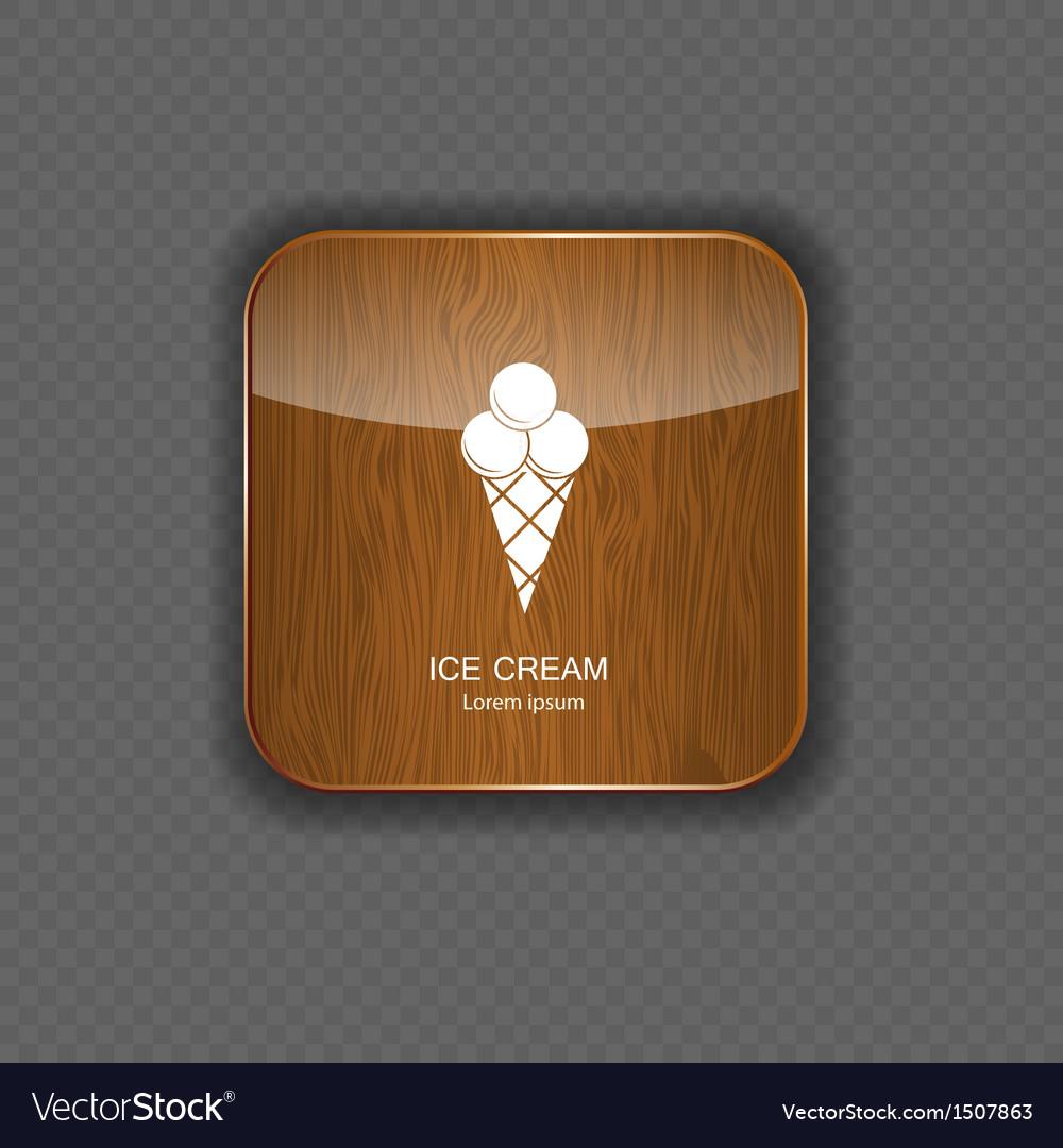 Ice cream application icons vector | Price: 1 Credit (USD $1)
