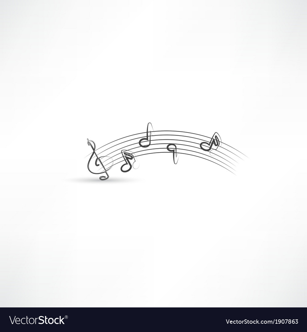 Music note vector | Price: 1 Credit (USD $1)
