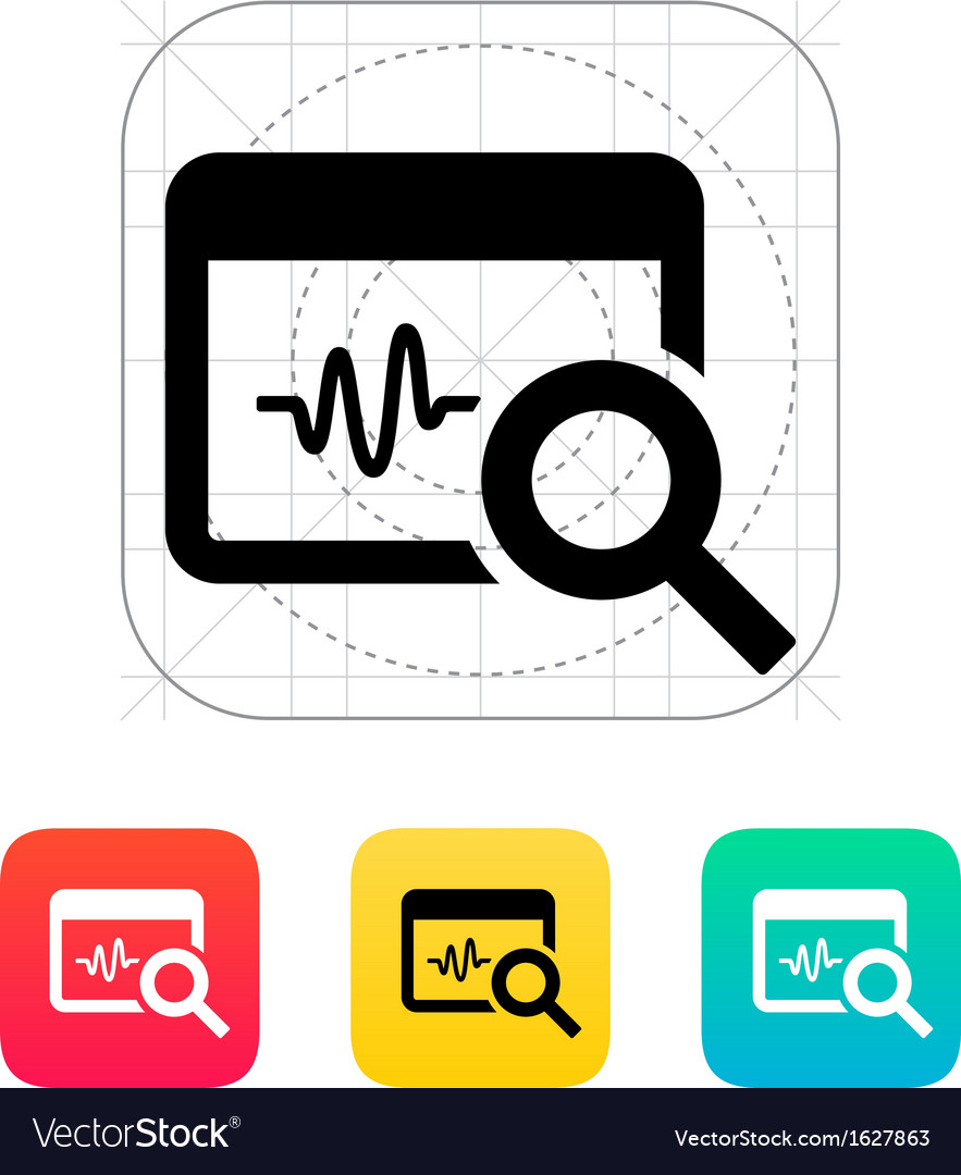 Pulse monitoring icon vector | Price: 1 Credit (USD $1)