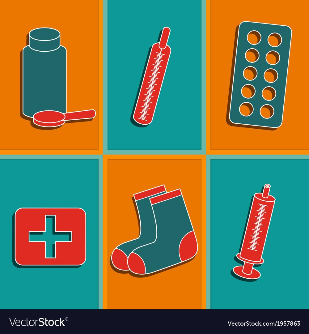 Set of medicine icons vector | Price: 1 Credit (USD $1)