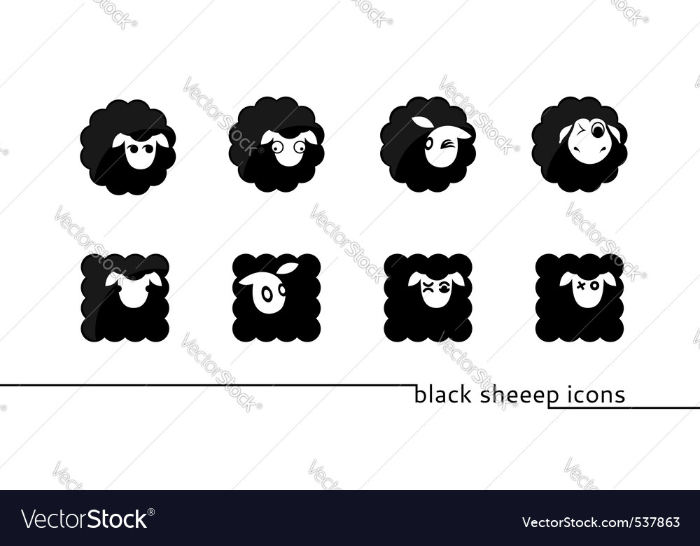 Sheep icons vector | Price: 1 Credit (USD $1)