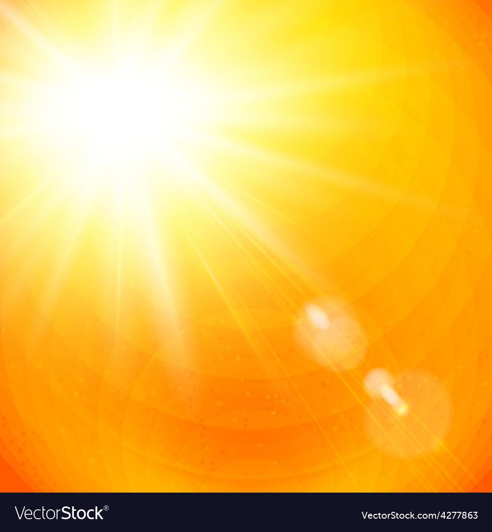 Vivid orange sunburst with sun flare vector | Price: 1 Credit (USD $1)