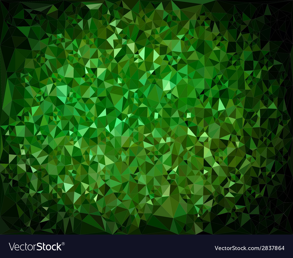 Abstract triangular green background vector | Price: 1 Credit (USD $1)