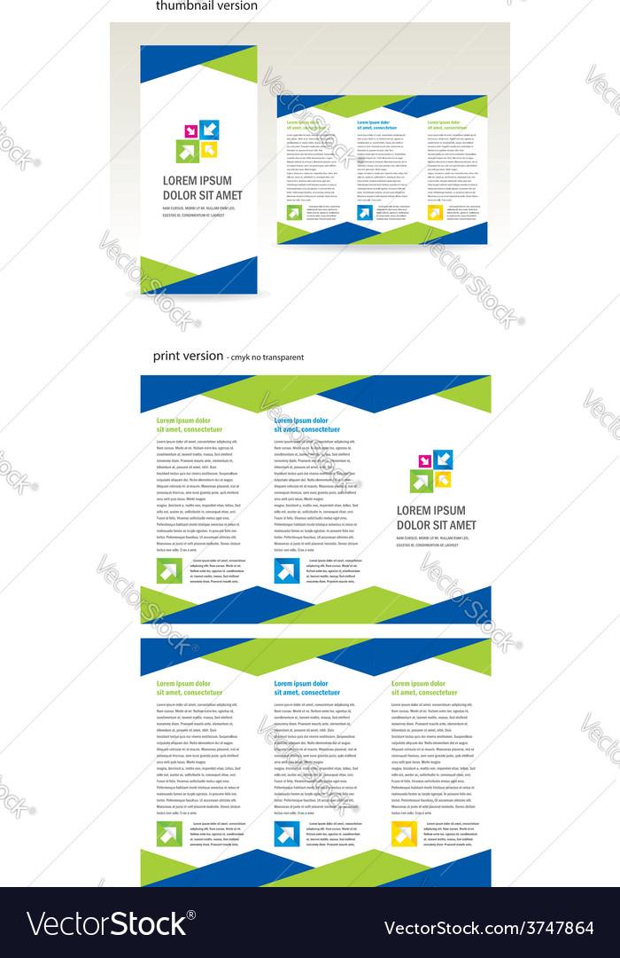Brochure folder triangles design vector | Price: 1 Credit (USD $1)