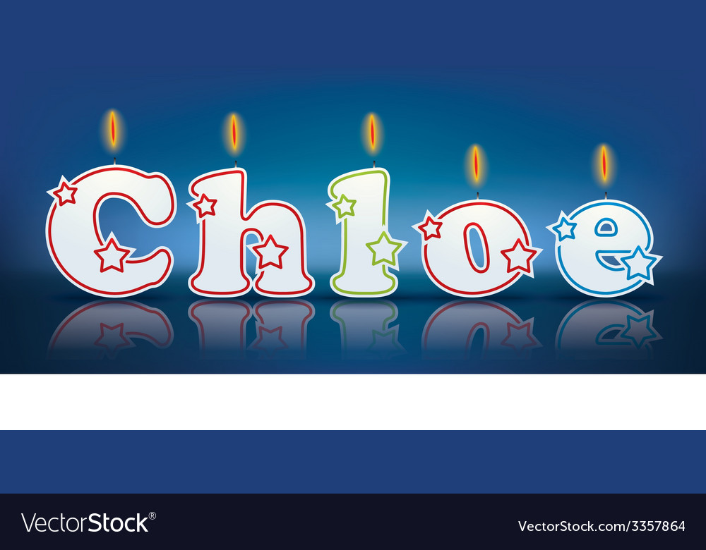 Chloe written with burning candles vector | Price: 1 Credit (USD $1)