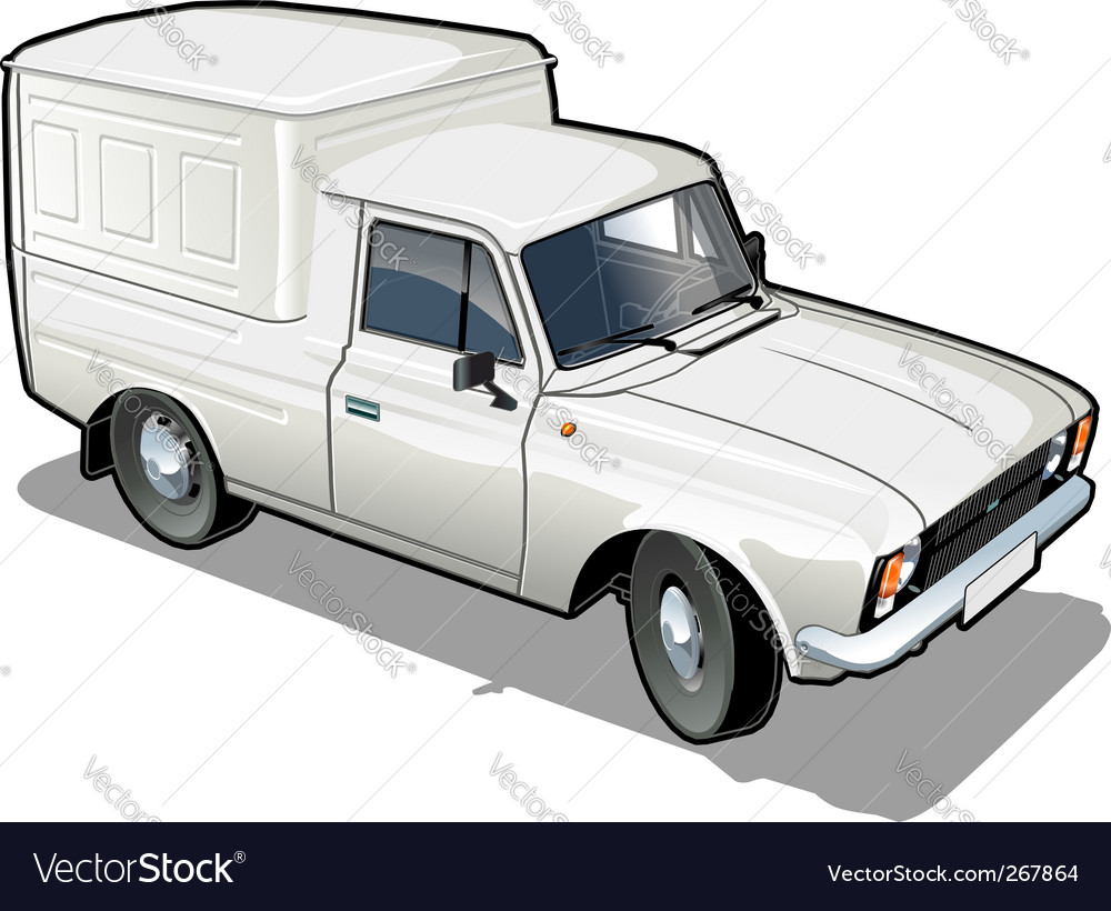 Delivery cargo van vector | Price: 1 Credit (USD $1)