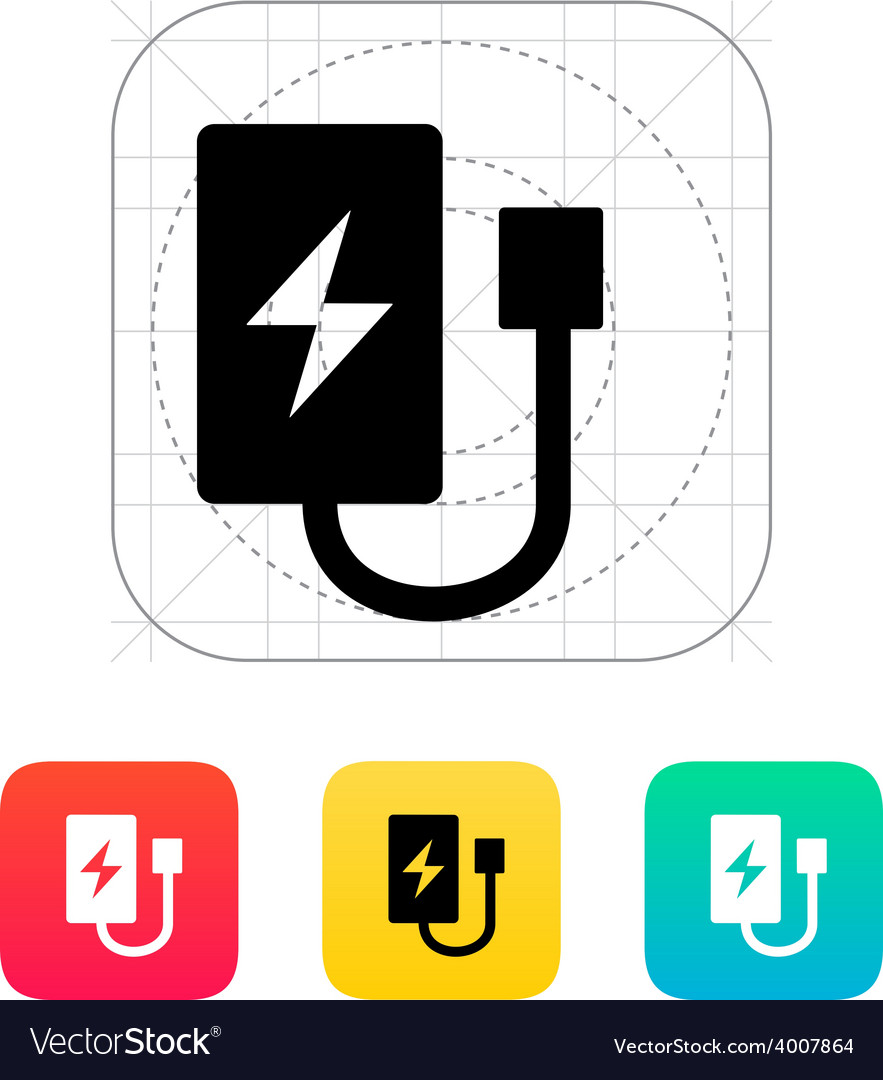 Drone charger icon vector | Price: 1 Credit (USD $1)