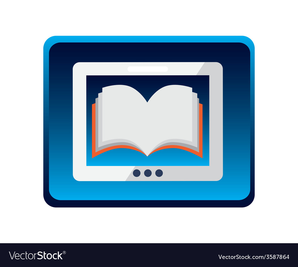 Electronic book design vector | Price: 1 Credit (USD $1)