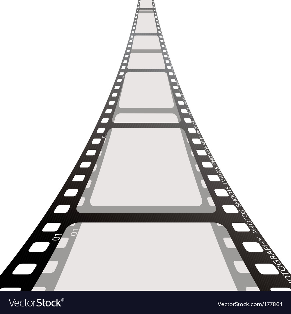 Film strip reel vector | Price: 1 Credit (USD $1)