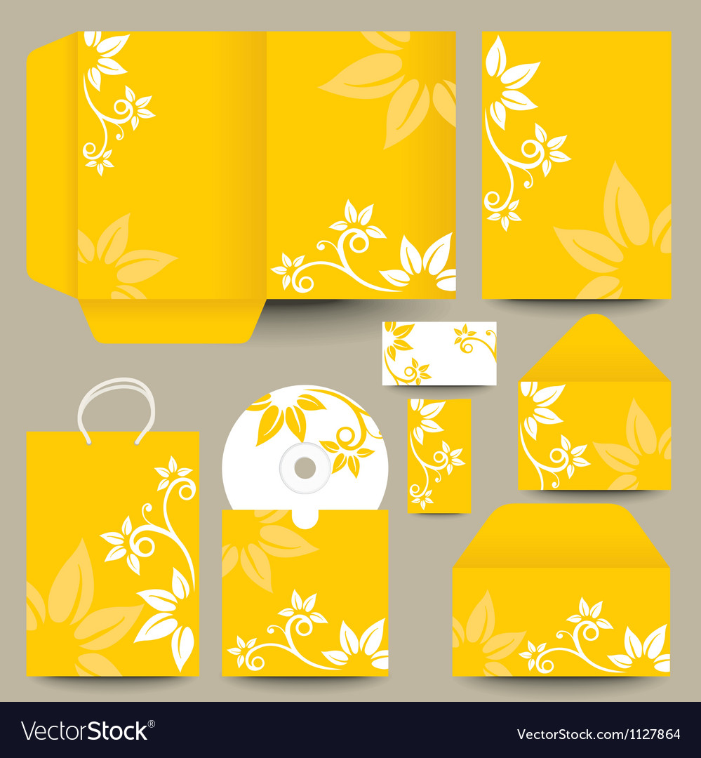 Floral cd and packaging vector | Price: 1 Credit (USD $1)