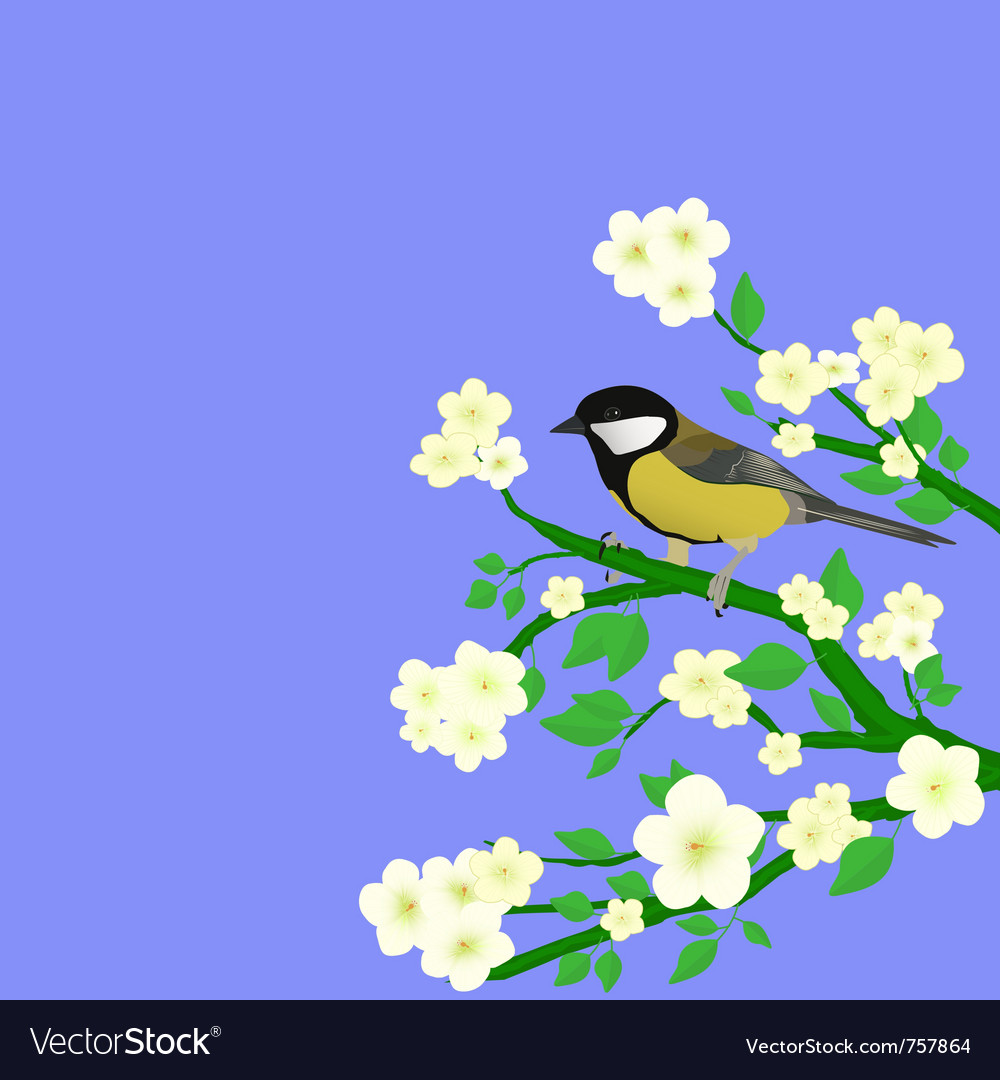 Little bird perched vector | Price: 1 Credit (USD $1)