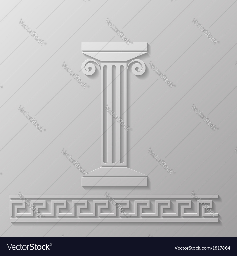 Marble column vector | Price: 1 Credit (USD $1)