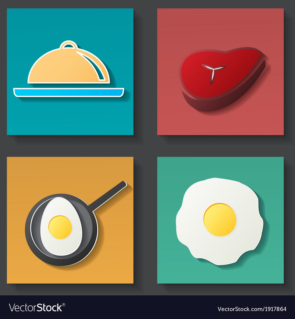 Set of food icon vector   Price: 1 Credit (USD $1)