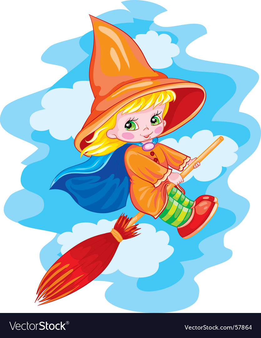 Small witch vector | Price: 3 Credit (USD $3)