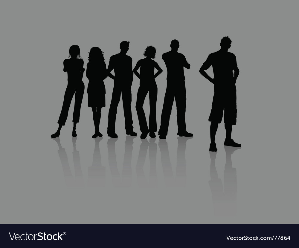 Young people vector | Price: 1 Credit (USD $1)