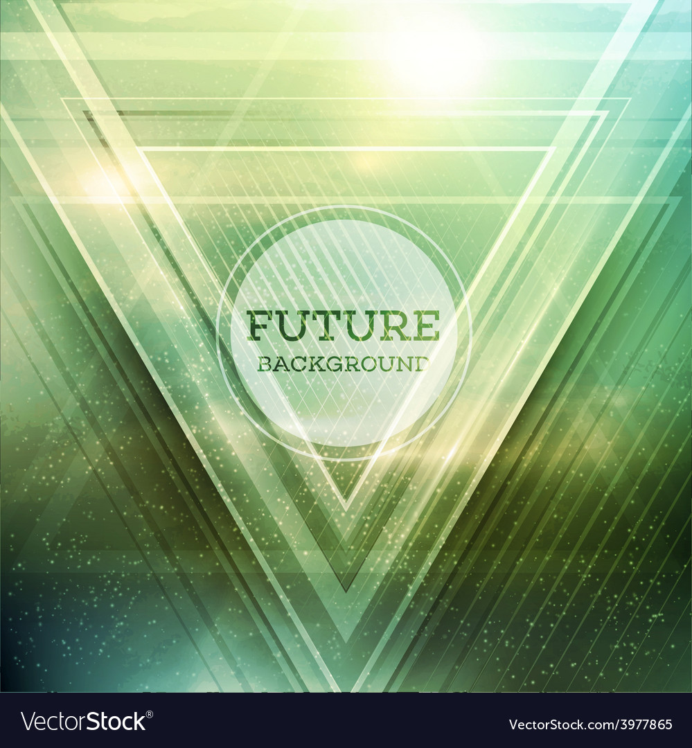 Abstract triangle future background vector | Price: 3 Credit (USD $3)