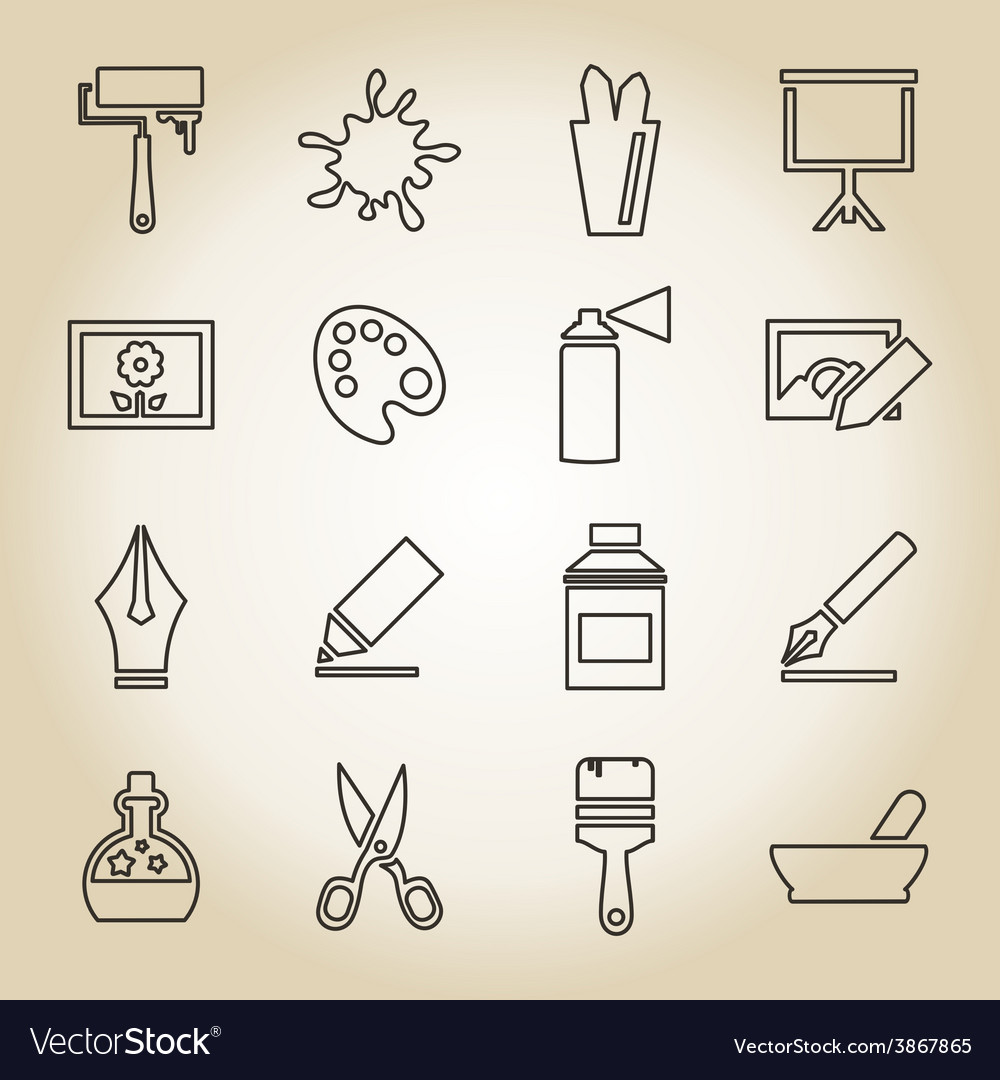 Art outline icon vector | Price: 1 Credit (USD $1)