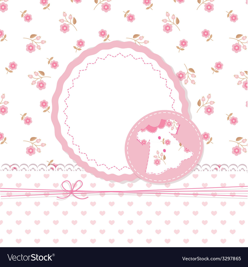 Baby girl shower with dress vector | Price: 1 Credit (USD $1)