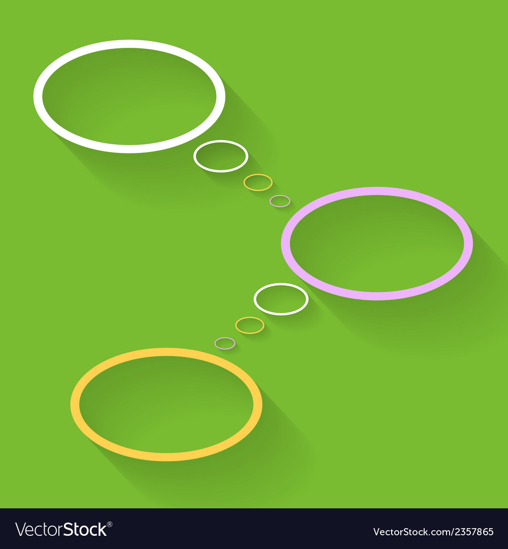 Blank bubbles connecting vector | Price: 1 Credit (USD $1)
