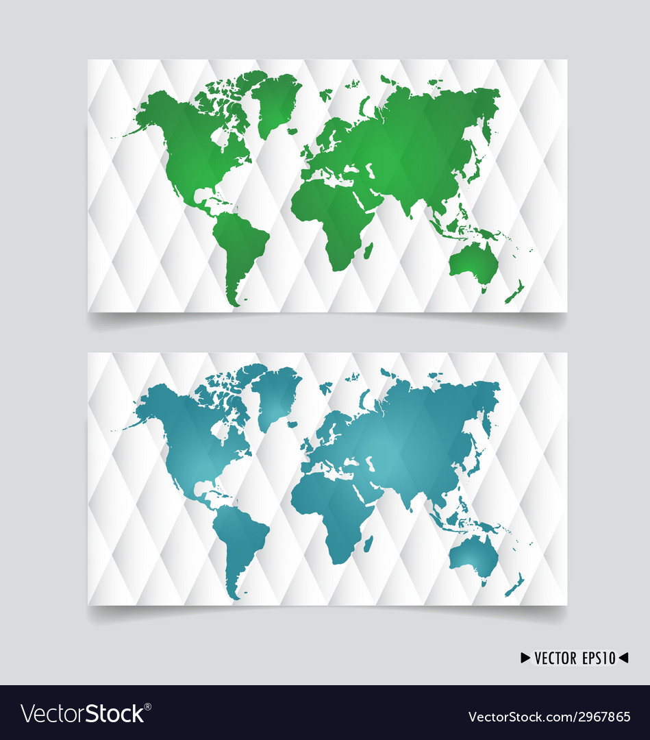 Card with world map vector | Price: 1 Credit (USD $1)