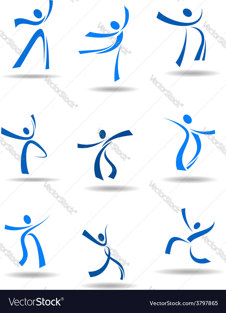 Dancing people icons vector | Price: 1 Credit (USD $1)