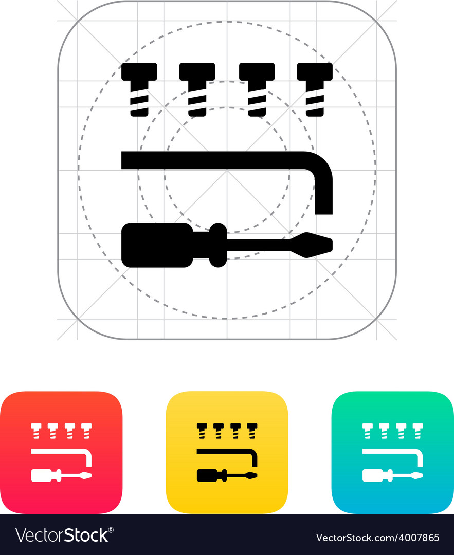 Drone repair kit icon vector | Price: 1 Credit (USD $1)