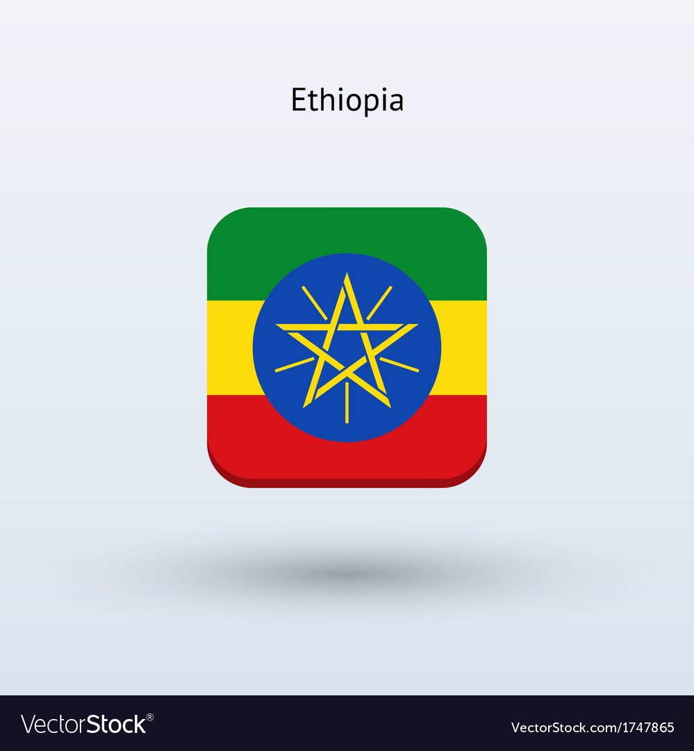 Ethiopia flag icon vector | Price: 1 Credit (USD $1)