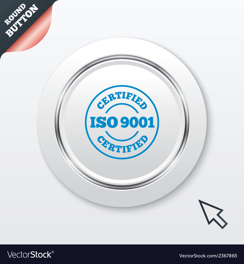Iso 9001 certified sign certification stamp vector | Price: 1 Credit (USD $1)