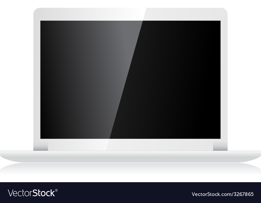 Laptop isolated on white vector | Price: 1 Credit (USD $1)