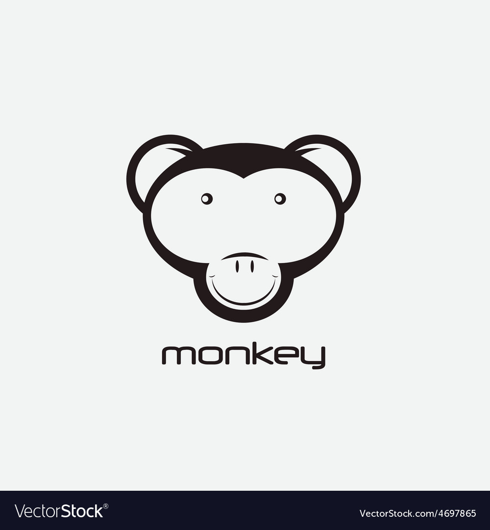 Monkey design template vector | Price: 1 Credit (USD $1)