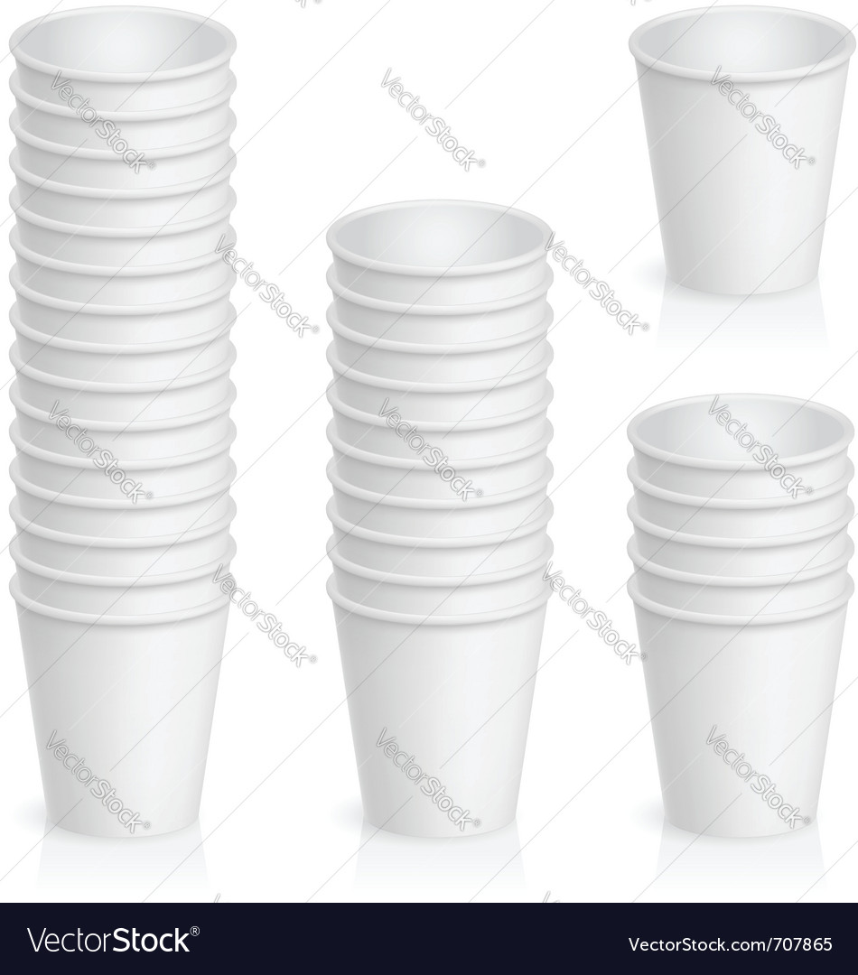 Paper cups vector | Price: 1 Credit (USD $1)