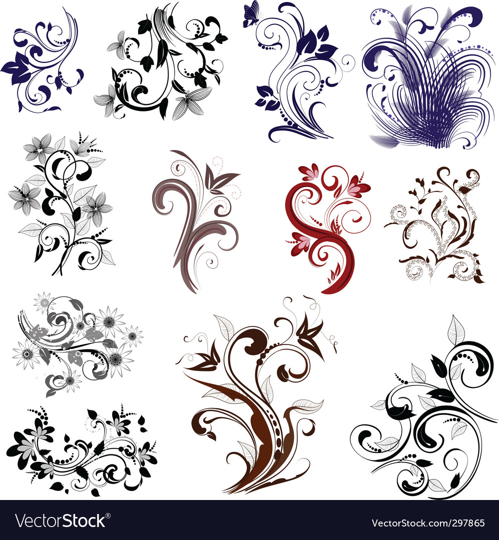Set of different patterns vector | Price: 1 Credit (USD $1)