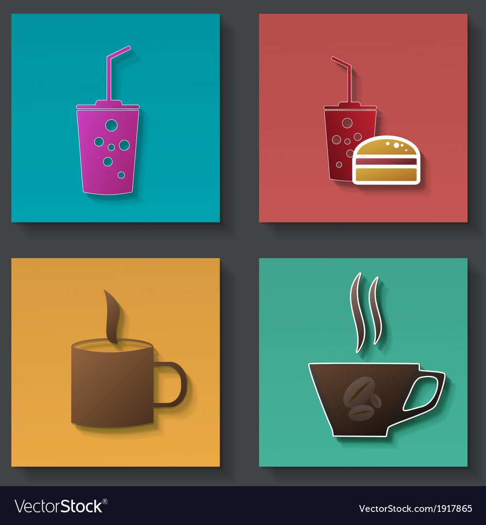 Set of icons for food and drink vector | Price: 1 Credit (USD $1)