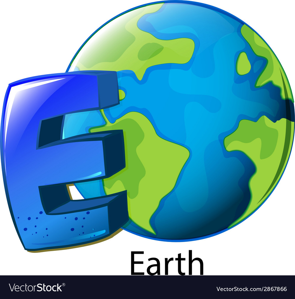 A letter e for earth vector | Price: 1 Credit (USD $1)