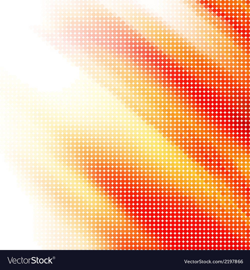 Abstract red-yellow halftone background vector | Price: 1 Credit (USD $1)