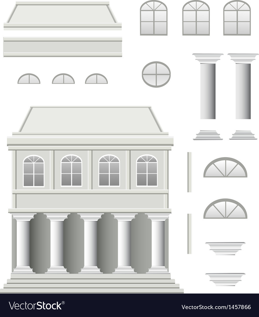 Antique house vector | Price: 1 Credit (USD $1)