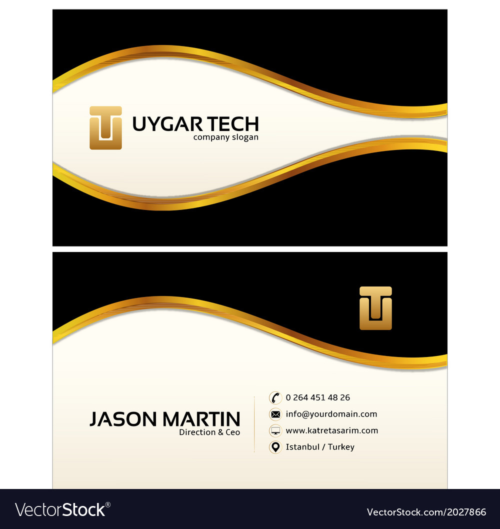 Decorative business card vector | Price: 1 Credit (USD $1)