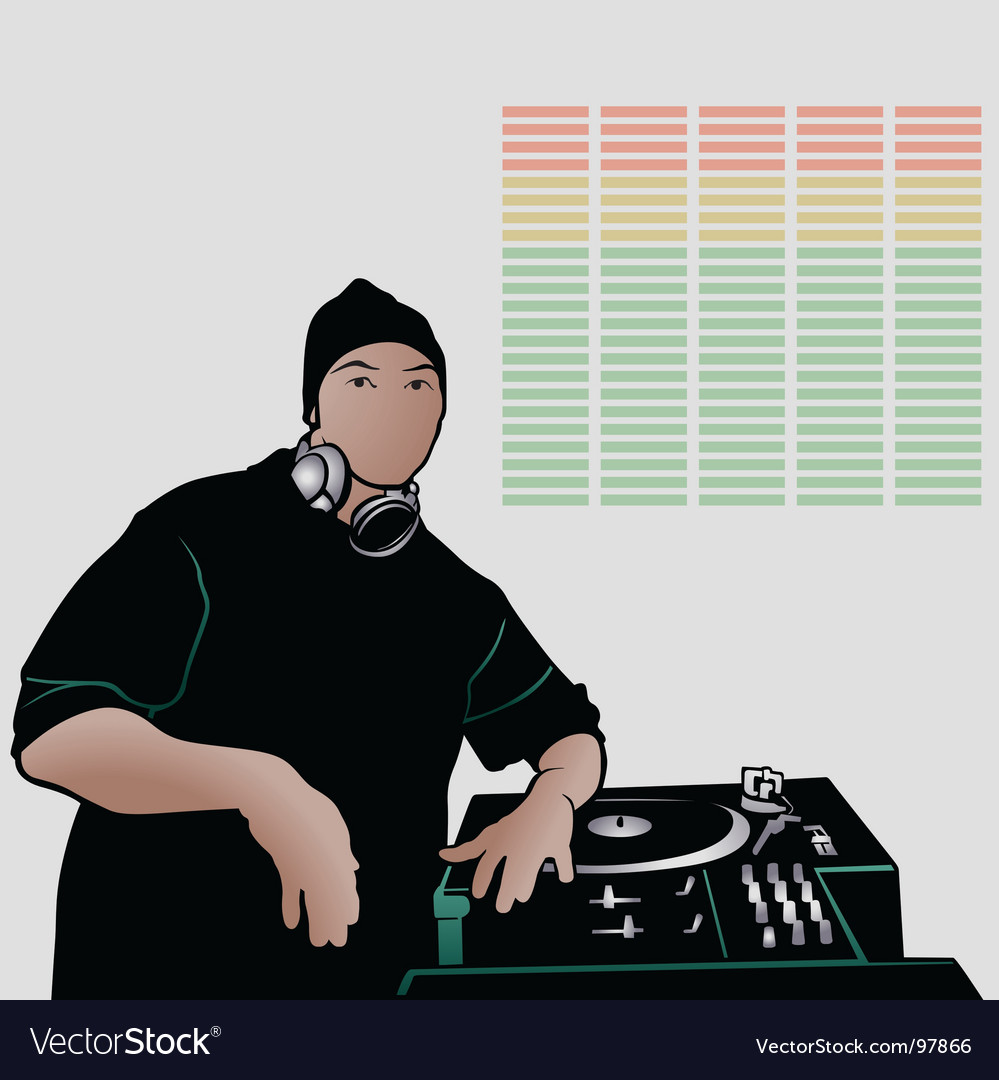 Deejay vector | Price: 1 Credit (USD $1)