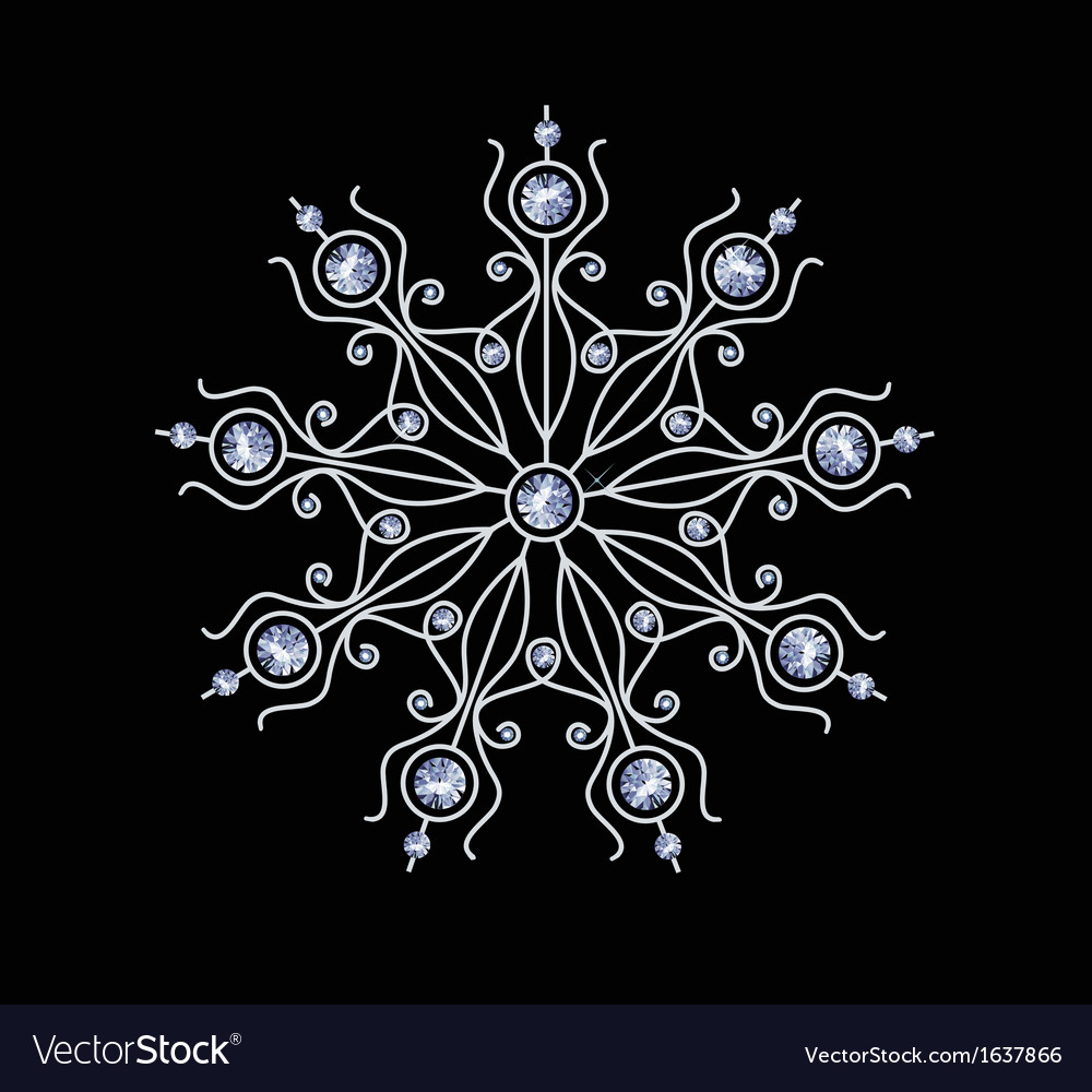 Diamond snowflake vector | Price: 1 Credit (USD $1)