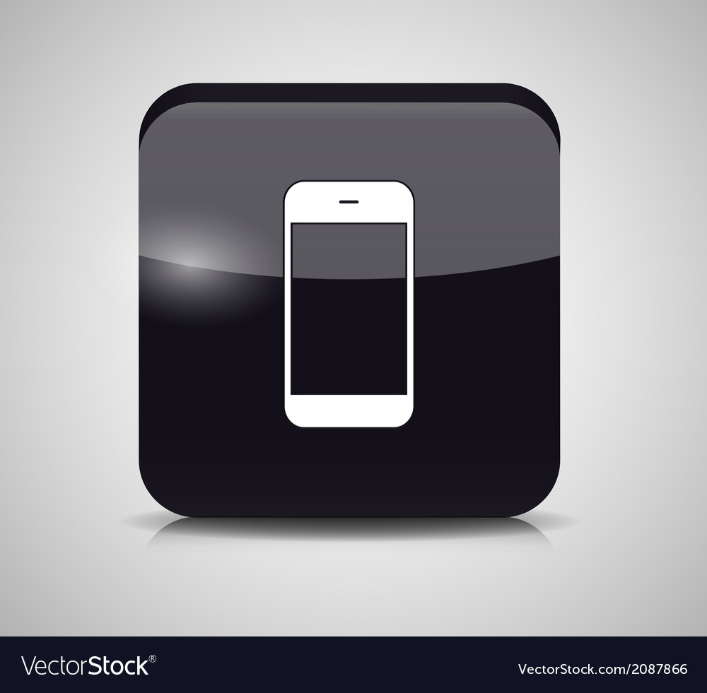 Glass phone button vector   Price: 1 Credit (USD $1)