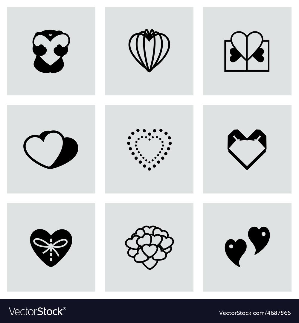 Hearts icon set vector | Price: 1 Credit (USD $1)
