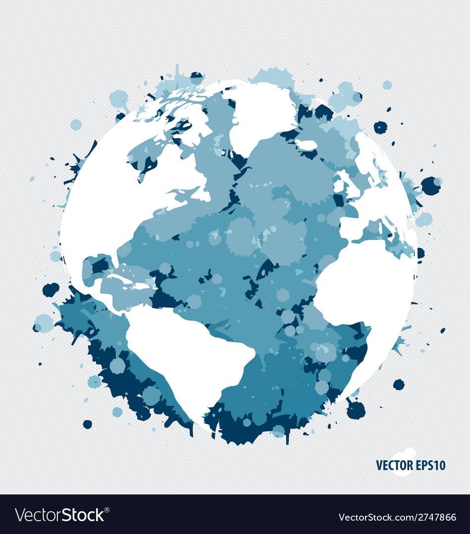 Modern blue globe vector | Price: 1 Credit (USD $1)
